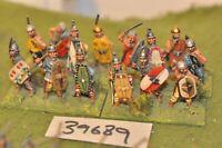 25mm roman era / gauls - warriors 14 figures - inf (39689)