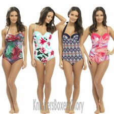 Bandeau Floral Swimming Costumes for Women