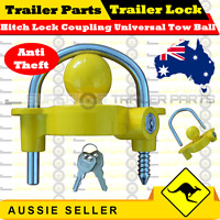 Hitch Lock Coupling Universal Tow Ball Caravan Camping Anti Theft (Trailer Lock)
