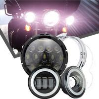 "7"" LED Headlight+Fog Lights  For Harley Davidson Ultra Classic Electra Glide"