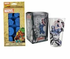 Marvel Comics Captain America Colour Changing Glass & Marvel Ice Cube Tray Set