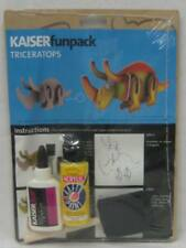 New Kid's Dinosaur Kit Triceratops with Instructions, Paint, Brush & Glue
