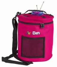 Artbin Yarn Drum wool skeins bag storage tote round knitting raspberry pink