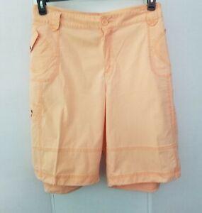 LaneBryant womens cargo Bermuda shorts plus size 26 peach  draw string bottom