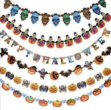 Hanging Garland Spider Halloween Decor Haunted Scary Ghost Paper Pumpkin House