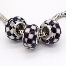 2017 5pcs silver MURANO charm beads for European bracelet V157