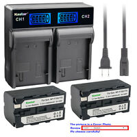 Kastar LCD Rapid Charger Battery for Sony NP-F750 NP-F770 NP-F960 NPF970 NP-F980