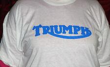 TRIUMPH Camiseta Blanca En Relieve triunfo motivo en Azul XL sólo