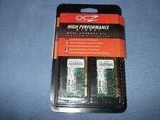 Ocz memoria portátil 2 GB PC2-6400 Kit de memoria DDR2 (2x1GB) de dos canales de alta velocidad.