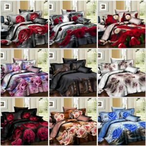 100% Egyptian Cotton Duvet Quilt Cover Set Double King Super King Size Bed Sheet