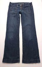 R132 American Eagle Trouser Boho Flare Stretch Jeans Tag sz 2 Reg (Mea 28.5x30)