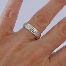 925 STERLING SILVER GREEK BAND RING size R, R1/2, V, V1/2, W, W1/2, X, X1/2, Y