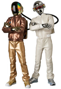 New Daft Punk Discovery V.2.0 Real Action Heroes Figure Set In Box Medicom