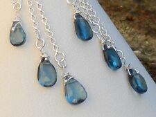 Stunning Handmade 925 Sterling Silver & London Blue Topaz Drop Earrings