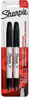 Sharpie Fine - Ultra Fine Permanent Markers, Black 2 ea (Pack of 2)