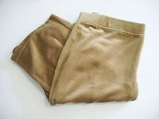 Style&Co. Womens Straight Leg Active Velour Pants Camel Luxe Sz L - NWT