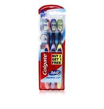 Colgate 360 Toothbrush Floss-tip Gentle Clean Teeth tongue Gums cheek 3 PCS PACK