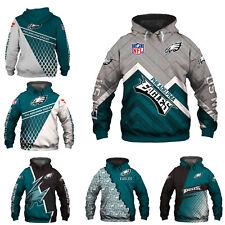 Philadelphia Eagles Hoodie Pullover Sweatshirt Footall Hooded Jacket Fan's Gift