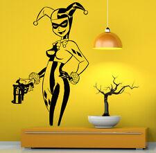 Harley Quinn Wall Vinyl Decals Super Hero Sticker DC Comics Art Decor (24jbat)