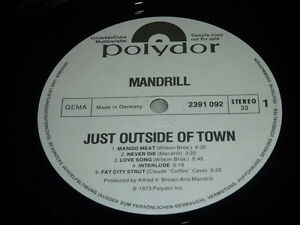 LP /   Mandrill ‎– Just Outside Of Town / MUSTERPLATTE / ARCHIV / MINT / RAR /