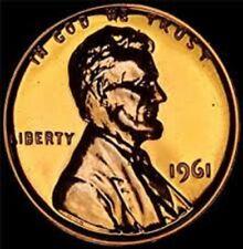 1961 GEM PROOF LINCOLN MEMORIAL CENT.
