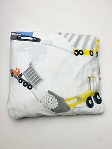 """Pottery Barn Kids Twin 39"""" x 75"""" Fitted Sheet Construction Vehicles Trucks Bed"""