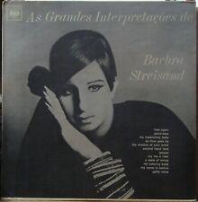 "BARBRA STREISAND 1968 ""AS GRANDES INTERPRETACOES"" UNIQUE EDITION MONO LP BRAZIL"