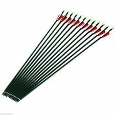 32in12Pcs Carbon Arrow 7.8mm SP500 Hunting Archery For Compound/Recurve Bow