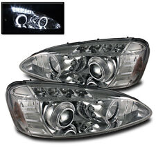 2004-2008 PONTIAC GRAND PRIX CHROME DUAL HALO PROJECTOR LED HEADLIGHTS LAMP PAIR