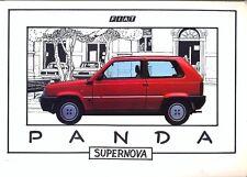 FIAT PANDA 750 1000s D 4x4 Supernova 1985 MERCATO ITALIANO BROCHURE a colori di vendita