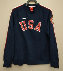 Nike Team USA Rio Olympics Crew Sweatshirt Sweater Size Medium 582839 451 M New