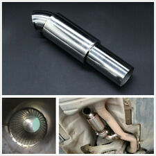 """Stainless Steel Polished 2""""inlet Car Exhaust Pipe Muffler Tip Resonator Silencer"""