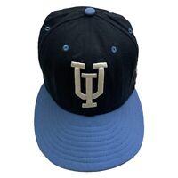 University Of Upper Iowa Peacocks Baseball Cap Blue Size 6 7/8 Wool New Era Hat
