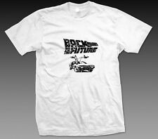 Back to the Future Retro 80s Distressed White Graphic T Shirt
