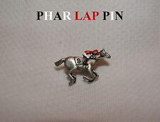 NEW PHAR LAP HAND PAINTED HORSE RACING JOCKEY SILKS PIN