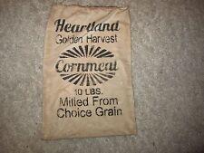 Primitive seed/ditty/feedsack bag - peg hanger -Heartland Golden Cornmeal
