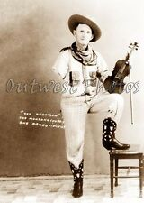 OLD TIME ONE ARMED COWBOY VIOLIN FIDDLE PLAYER SIDESHOW SIDE SHOW PHOTO