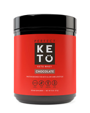 Pure Chocolate 100 Grass Fed Whey Protein Powder Isolate by Keto 18 Oz