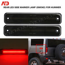 For Hummer H2 2003-2009 Smoked Rear Red LED Side Marker Light Turn Signal Lamp