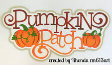 Pumpkin Patch paper piecing title premade scrapbook page album card by  Rhonda
