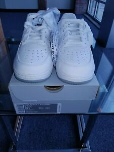 3 YOUTH NIKE AIR FORCE 1 EQUALITY PS QS WHITE BLACK CASUAL SNEAKERS CD6483 100