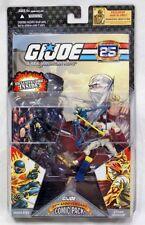 2007 GI Joe RAH 25th Snake Eyes & Storm Shadow Figure & Comic 2 Pack MOC Hasbro