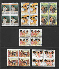 UNI. NATIONS;1988 ISSUE INT. VOLUNTEER DAY BLK OF 4 M/NH NEW YORK, GENEVA,VIENNA
