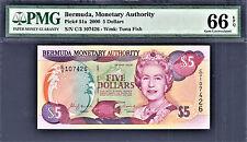 Bermuda $5 QEII 2000 Pick-51a GEM UNC PMG 66 EPQ