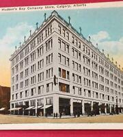 Postcard, Hudson's Bay Store, 8th Ave Calgary Alberta Canada Vintage P31