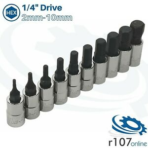 """Blue Point 1/4"""" Hex Socket Set 2-10mm - As sold by Snap On"""