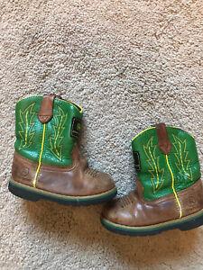 John Deere Kids Jd1417-1 Western Boot