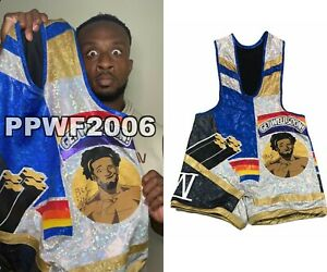 WWE BIG E RING WORN HAND SIGNED AUTOGRAPHED NEW DAY SINGLET WITH PROOF AND COA 2