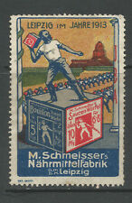 Germany/Leipzig 1913 M Schmeisser's Food Factory advertising stamp/label