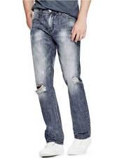 NWT $135 GUESS Men's Straight Leg Medium Rise Blue Denim Jeans Size 31x32